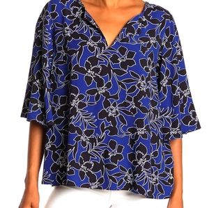 Tommy Bahama forte floral 3/4 sleeve top small